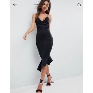 ASOS Scuba Cami Midi Dress